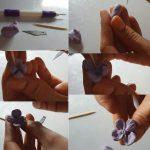 Polymer clay hydrangea flower tutorial - step 6