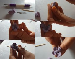 polymer clay hydrangea flower – DYI step by step tutorial