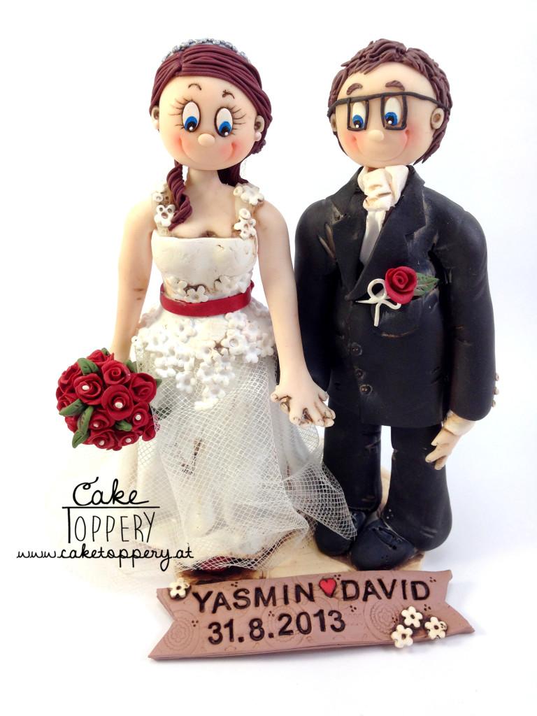 Polymer clay wedding cake ornaments