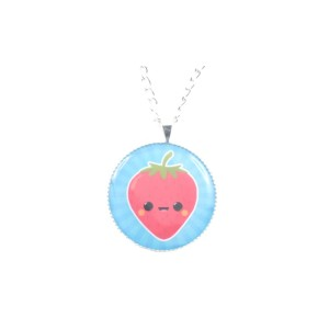 Polymer clay fruity necklaces by Aniela