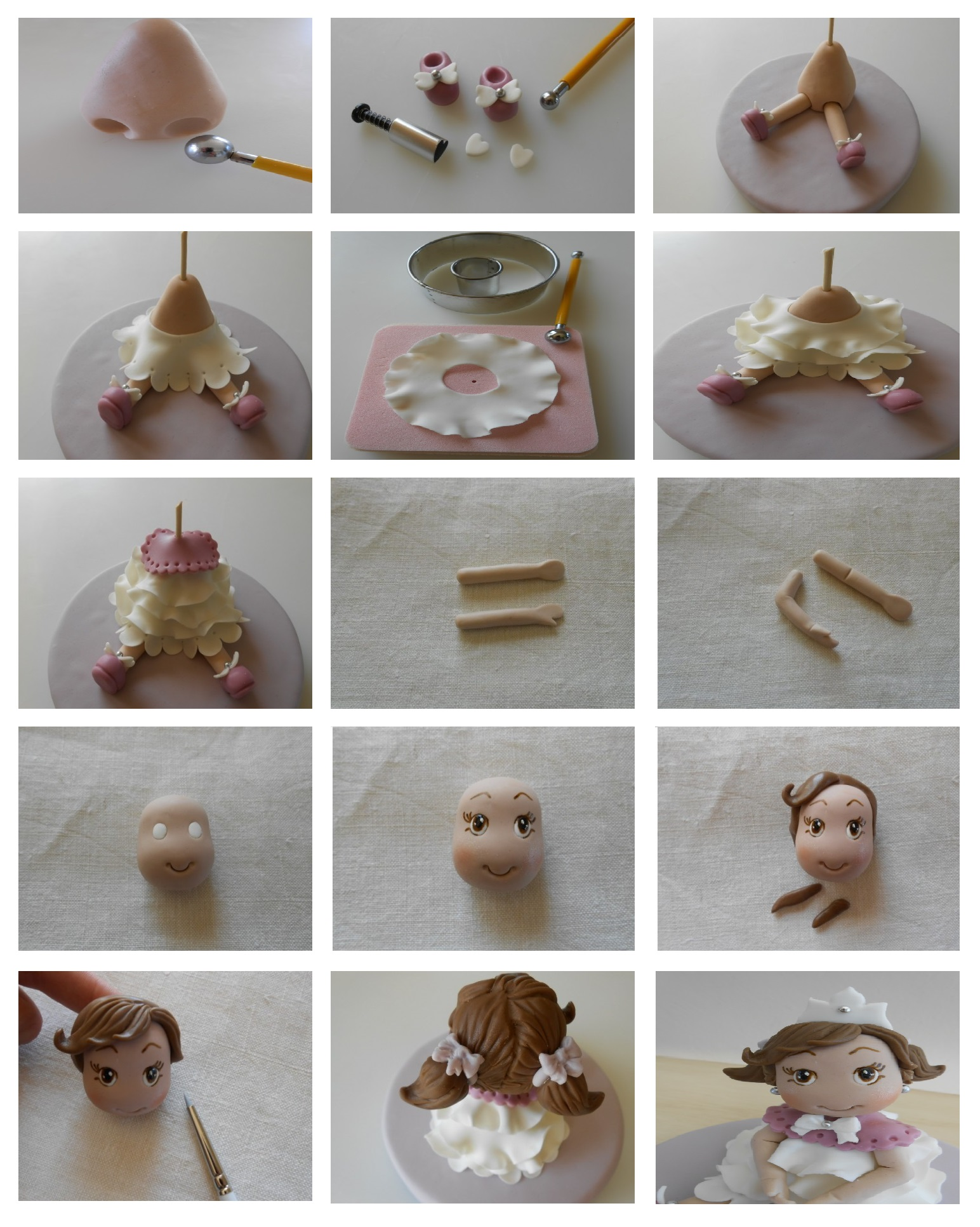 Polymer clay princess - DIY step by step tutorial