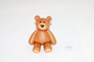 Cute polymer clay teddy bear – DIY step by step tutorial