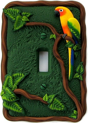 Polymer clay light switch cover - DIY ideas