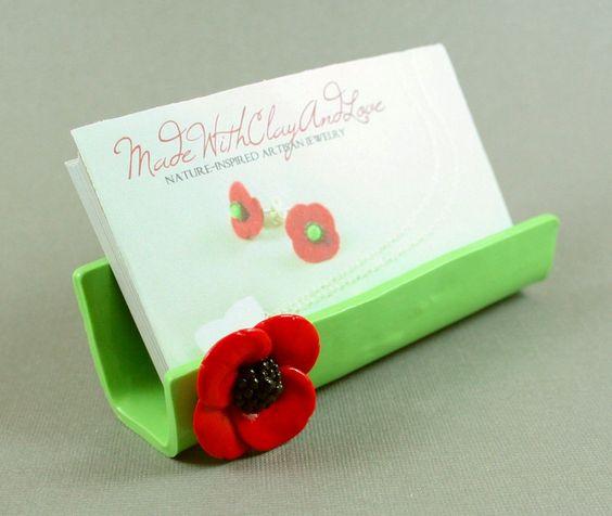 DIY 50 polymer clay business card holder ideas