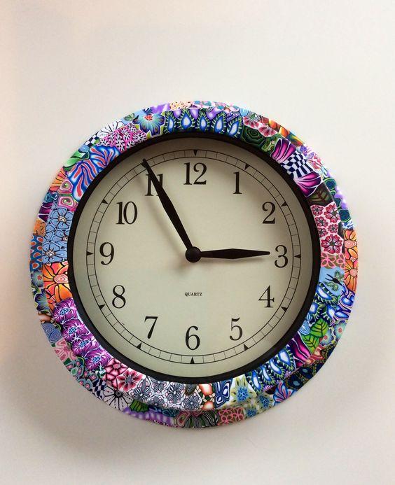 DIY 20 fimo clock ideas