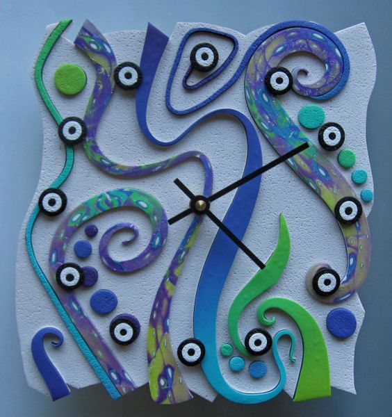 DIY 20 fimo clock ideas