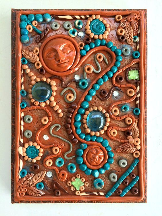 DIY 20 polymer clay notebook cover ideas