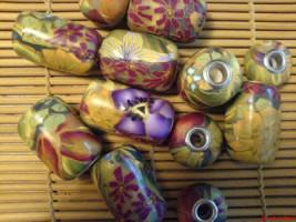 DIY polymer clay pandora beads
