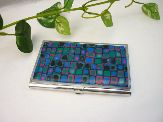 Diy 50 polymer clay business card holder ideas reheart Image collections