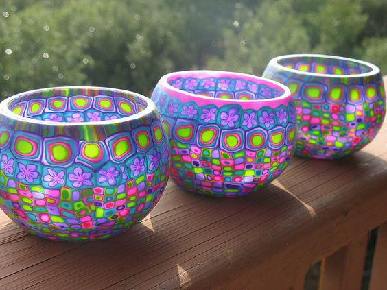 polymer clay candle holders- DIY ideas