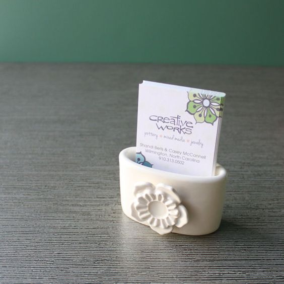 DIY 50 polymer clay business card holder ideas