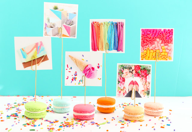 Sweet macaroons photo holder polymer clay tutorial