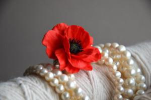 Fimo poppy flowers