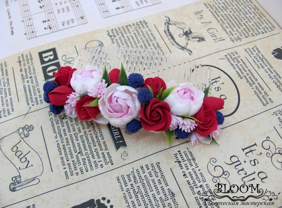 Polymer clay hair accessories