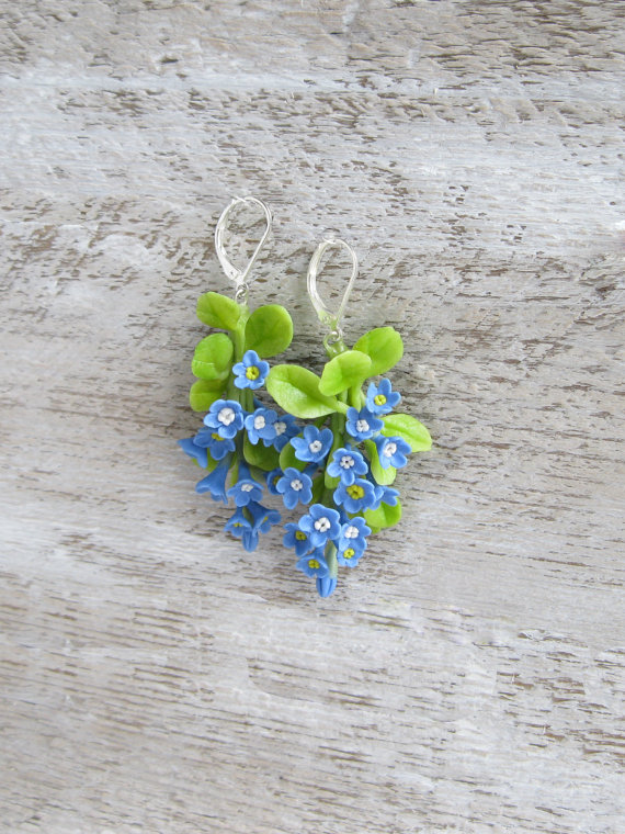 Colorful polymer clay earrings for summer