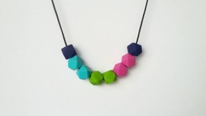 A bit of colour and fun into a simple FIMO necklace