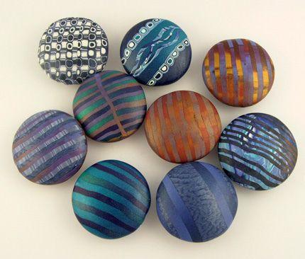 polymer clay blue beads ideas