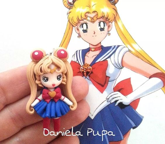 Polymer clay Sailor Moon figurine
