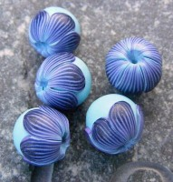polymer clay blue beads ideas