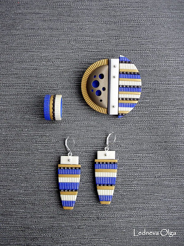 Polymer clay jewelry sets to wear on Monday at the office