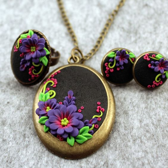 Fimo - clay - jewelry set