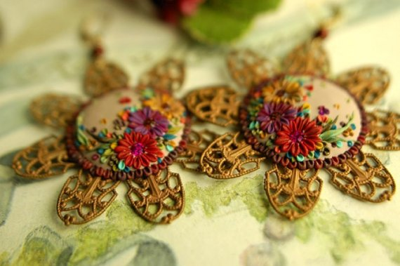 Vintage polymer clay earrings ideas