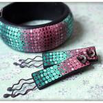 Polymer clay bracelet5