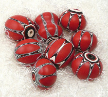 FIMO red beads ideas