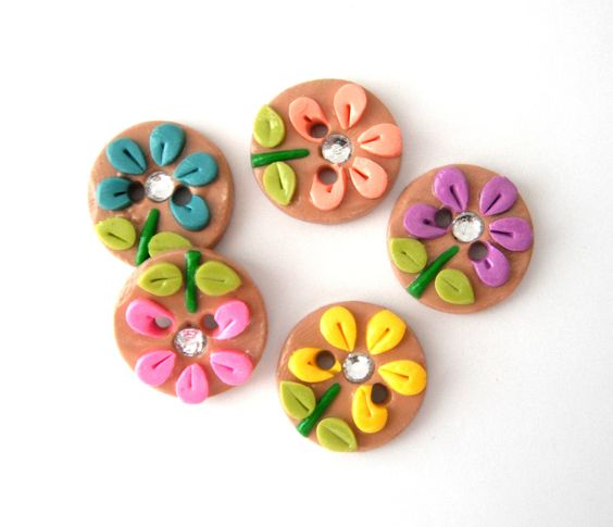 Polymer clay buttons