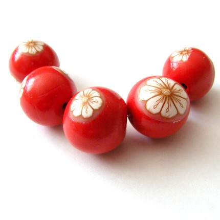 polymer clay red beads ideas