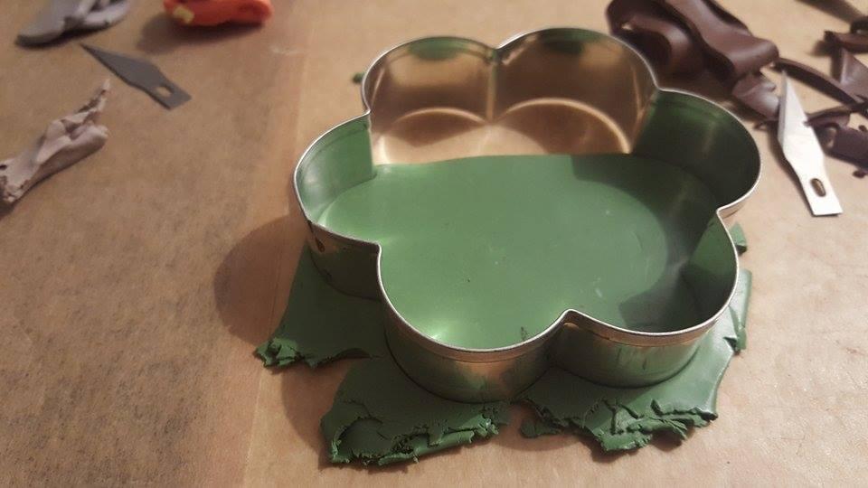 Polymer clay Halloween photo frame/ card holder