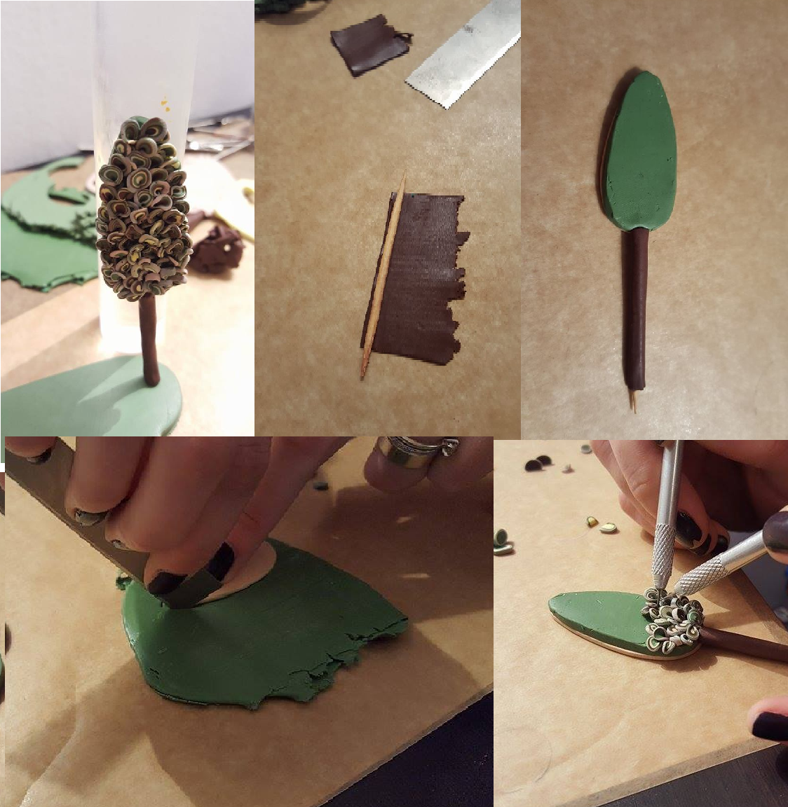 Polymer clay tree tutorial