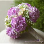 Bouquet of the bride with peonies 2
