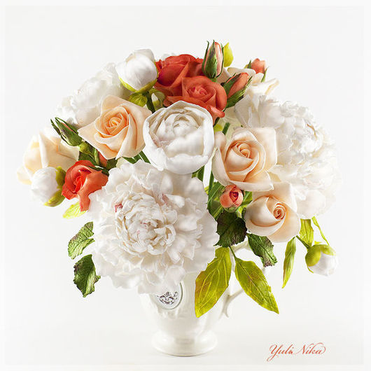 Bouquet with peonies and roses 3