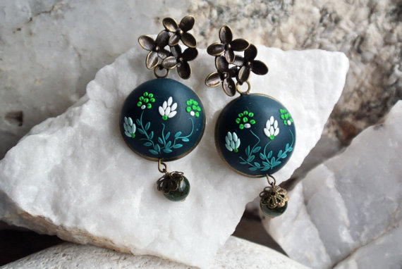 40 Polymer clay colorful earrings ideas