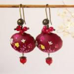 Fuchsia earrings, flower earrings, Magenta earrings maroon earrings, purple earrings, hot pink earrings pink fuchsia wedding