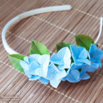 Barrette Cornflower & Forget-me-not - Polymer Clay Flowers- Polymer clay hair accessories