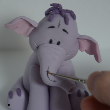 Polymer clay Lumpy elephant tutorial