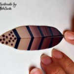 Polymer clay feather tutorial step 14