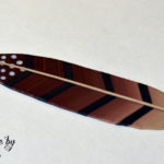 Polymer clay feather tutorial step 15