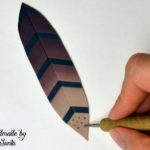 Polymer clay feather tutorial step 6
