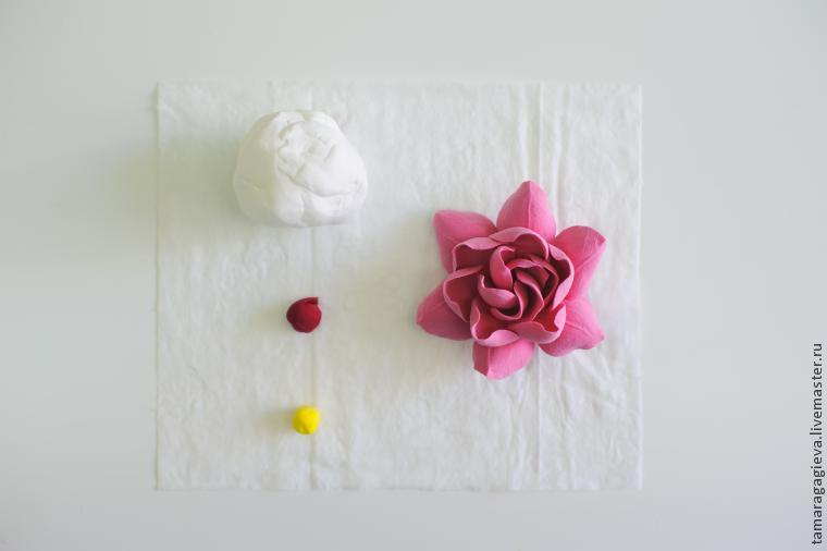 Polymer clay gardenia tutorial