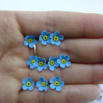 Polymer clay flower beads - apple flowers
