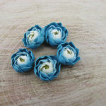 Polymer clay blue peony flowers