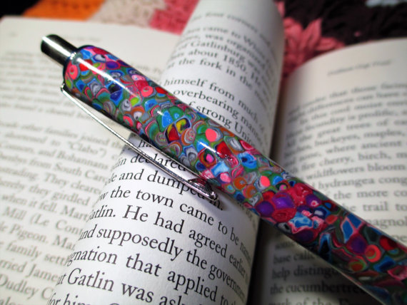 Polymer clay colored pen - canes 12