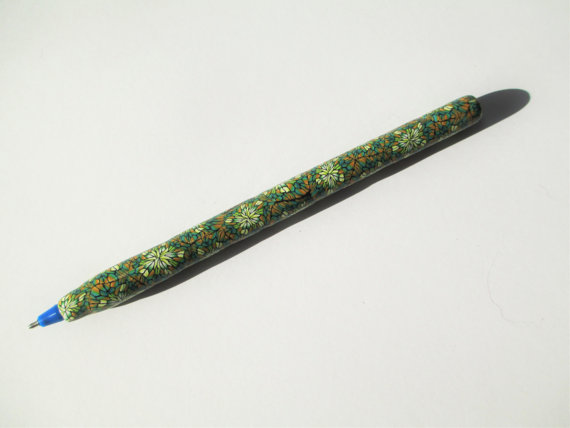 Polymer clay colored pen - canes 17