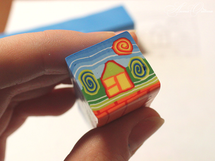 Polymer clay house cane tutorial