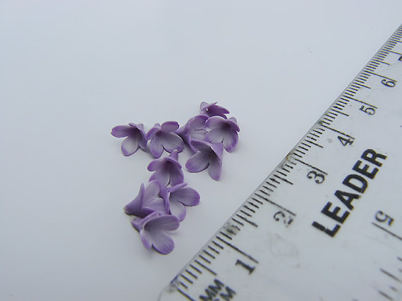 Polymer clay lilac flowers