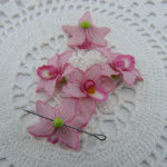 Polymer clay orchids buds
