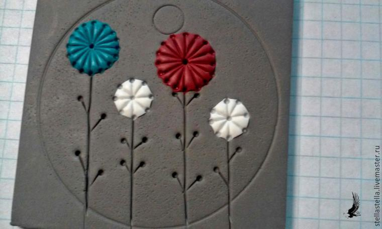 Polymer clay pendant tutorial - step 6